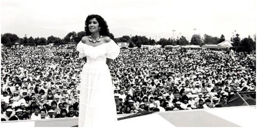 Guadalupe Pineda en Anaheim, California en los 80s